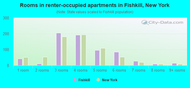 Rooms in renter-occupied apartments in Fishkill, New York
