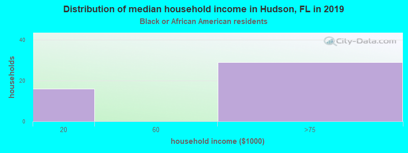 Hudson household income for Black householders