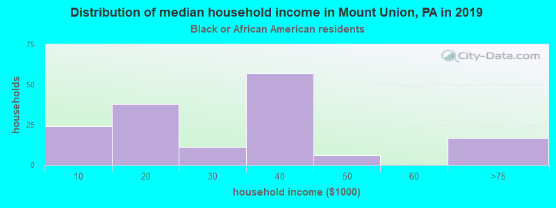Mount Union household income for Black householders