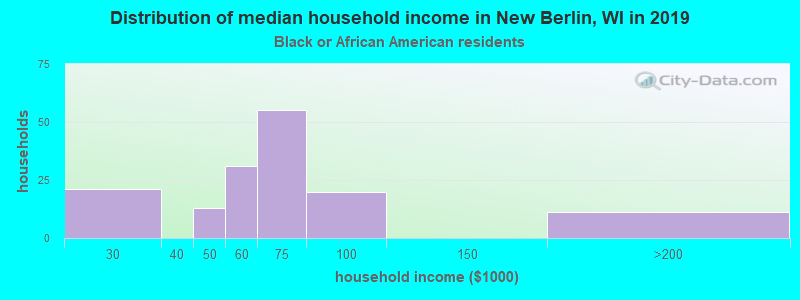 New Berlin household income for Black householders