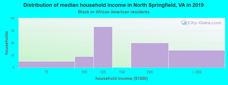 North Springfield household income for Black householders