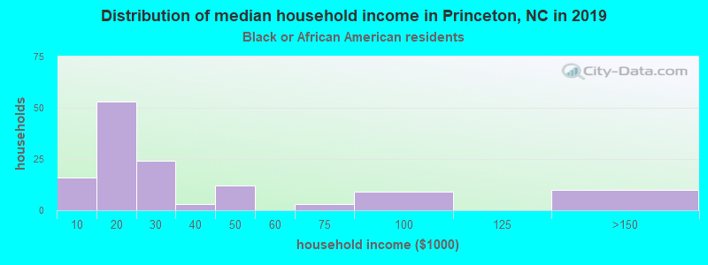 Princeton household income for Black householders