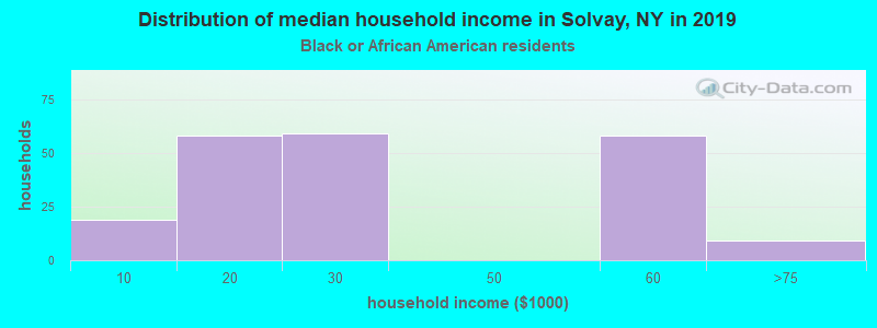 Solvay household income for Black householders