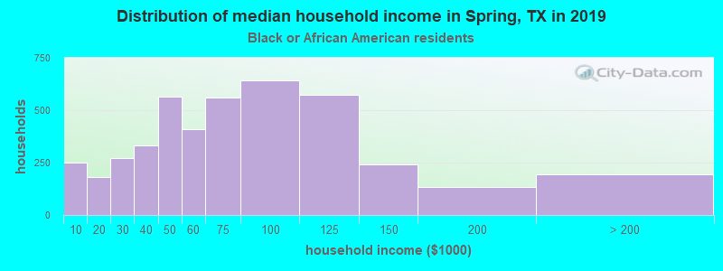 Spring household income for Black householders