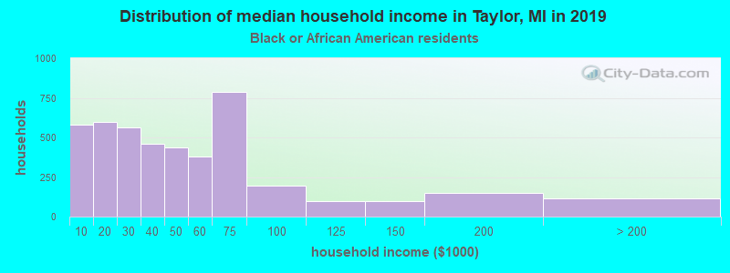 Taylor household income for Black householders