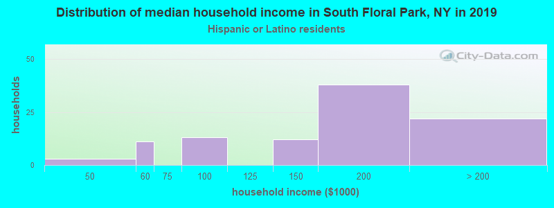 South Floral Park household income for Hispanic or Latino race householders