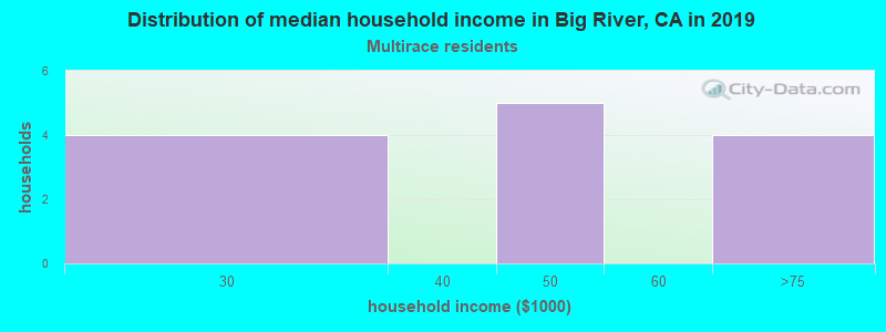 Big River household income for Two or more races householders