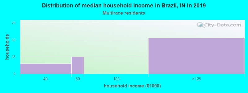 Brazil household income for Two or more races householders