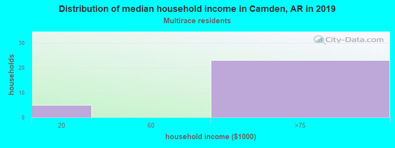 Camden household income for Two or more races householders