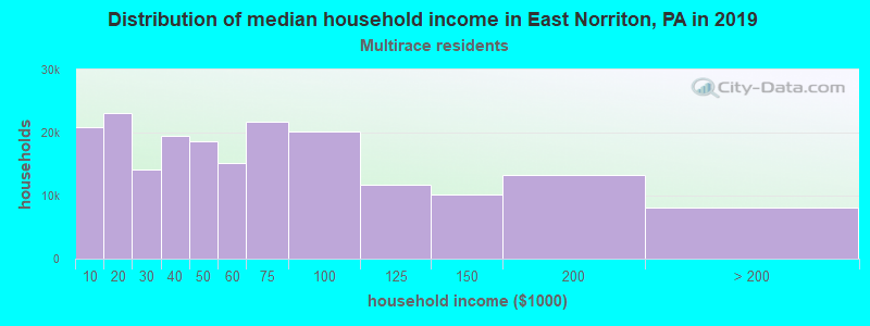 East Norriton household income for Two or more races householders