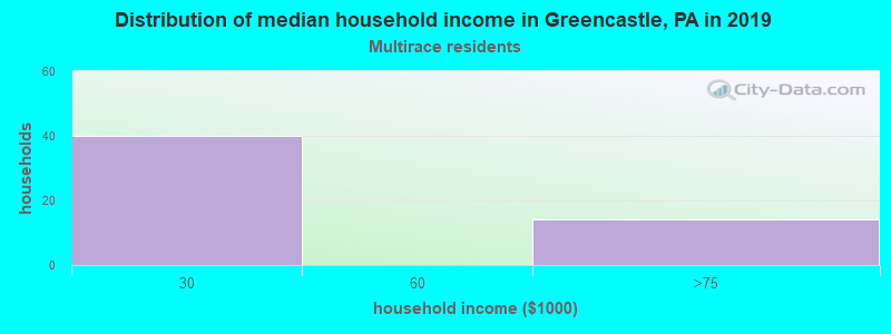 Greencastle household income for Two or more races householders