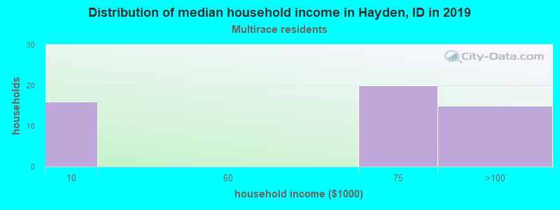 Hayden household income for Two or more races householders