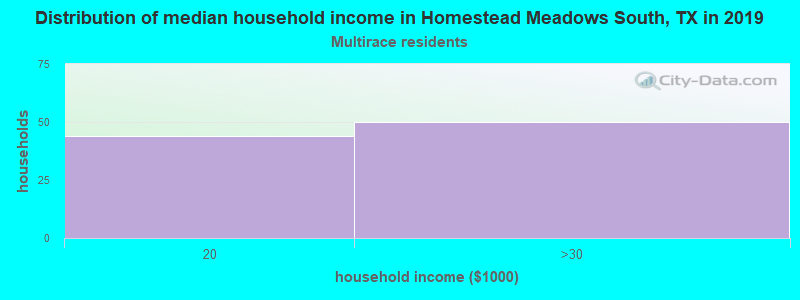 Homestead Meadows South household income for Two or more races householders