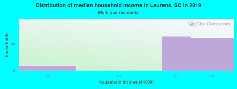 Laurens household income for Two or more races householders