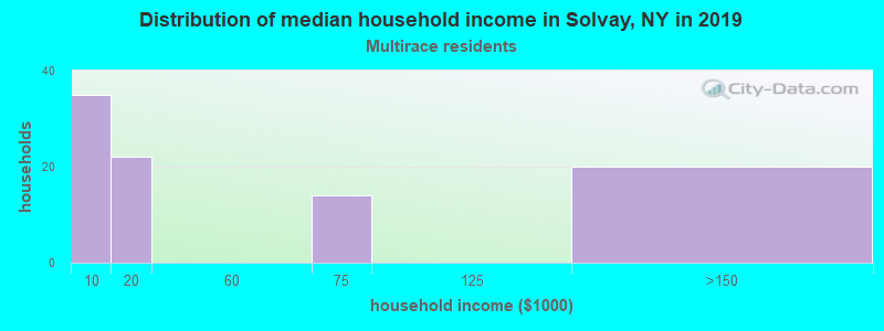 Solvay household income for Two or more races householders