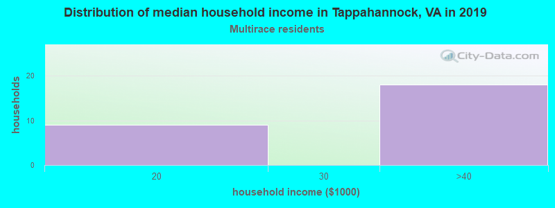 Tappahannock household income for Two or more races householders