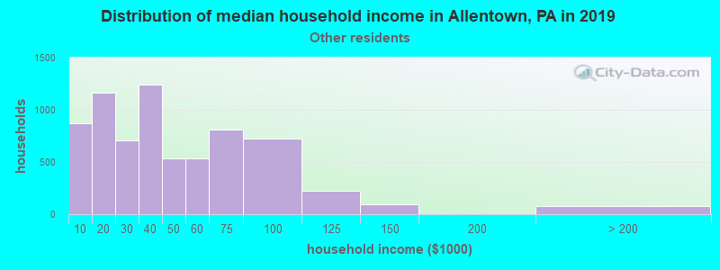 Allentown household income for Some other race householders