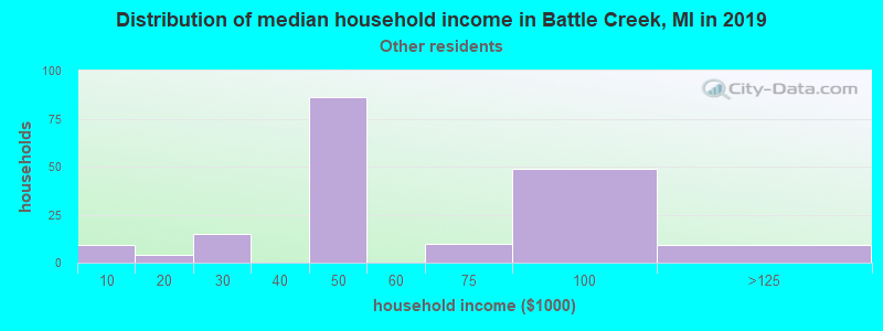 Battle Creek household income for Some other race householders