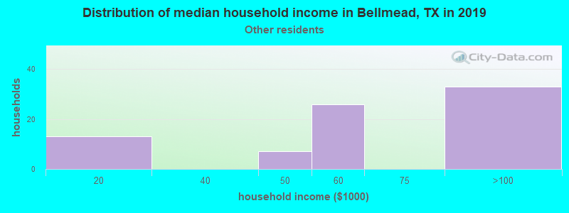 Bellmead household income for Some other race householders