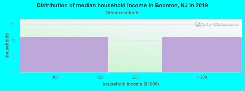 Boonton household income for Some other race householders
