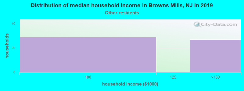 Browns Mills household income for Some other race householders