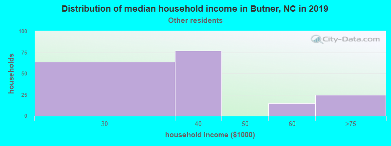 Butner household income for Some other race householders
