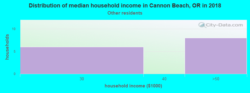 Cannon Beach household income for Some other race householders