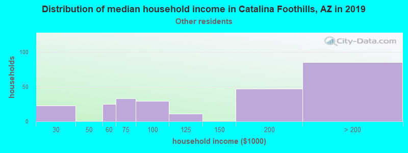 Catalina Foothills household income for Some other race householders