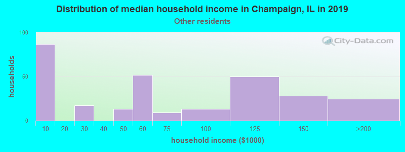 Champaign household income for Some other race householders