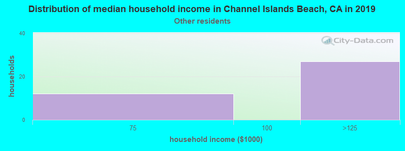 Channel Islands Beach household income for Some other race householders
