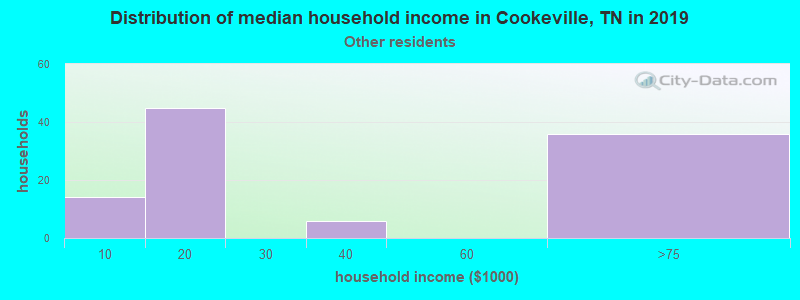Cookeville household income for Some other race householders
