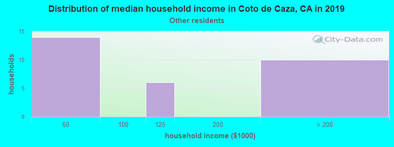 Coto de Caza household income for Some other race householders