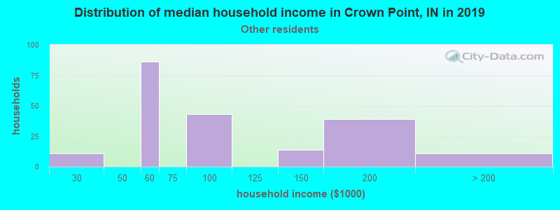 Crown Point household income for Some other race householders