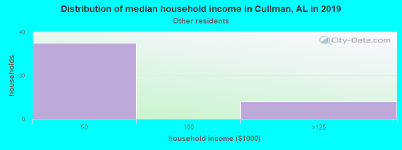 Cullman household income for Some other race householders