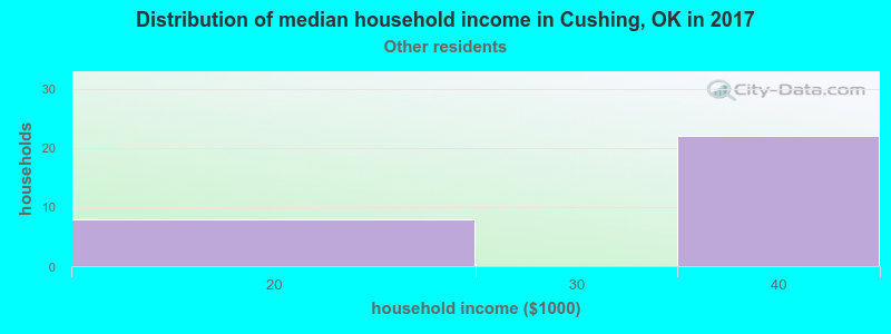 Cushing household income for Some other race householders