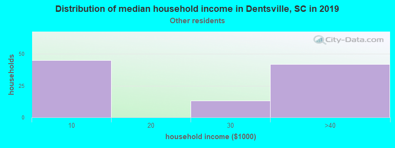 Dentsville household income for Some other race householders