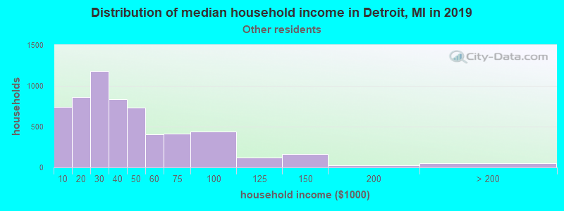 Detroit household income for Some other race householders