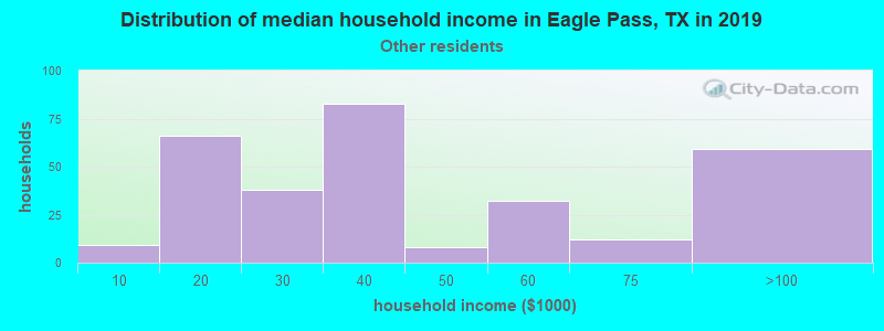 Eagle Pass household income for Some other race householders
