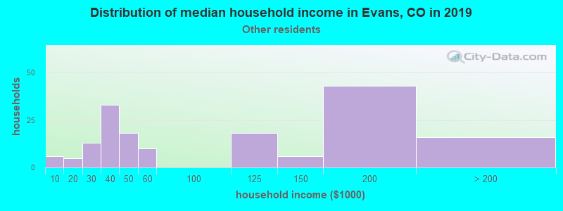 Evans household income for Some other race householders