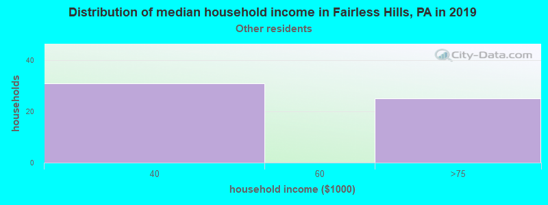 Fairless Hills household income for Some other race householders