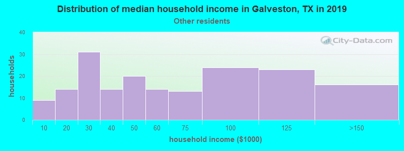 Galveston household income for Some other race householders