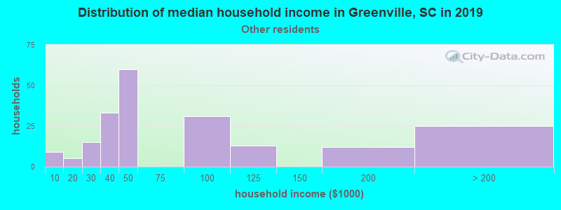Greenville household income for Some other race householders