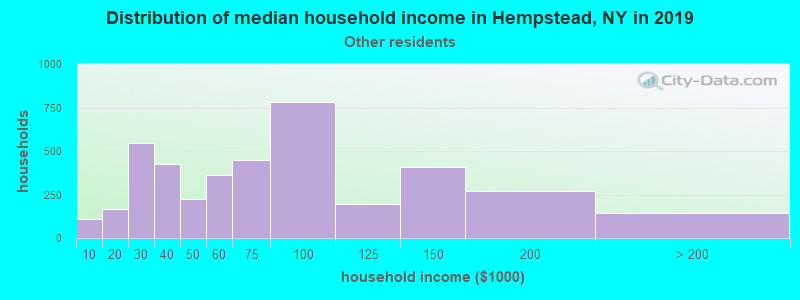 Hempstead household income for Some other race householders