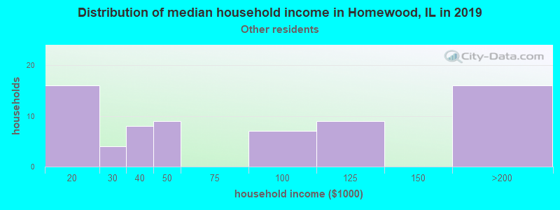 Homewood household income for Some other race householders