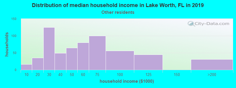 Lake Worth household income for Some other race householders