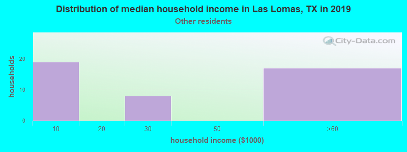 Las Lomas household income for Some other race householders