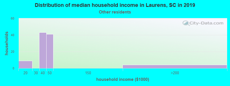 Laurens household income for Some other race householders