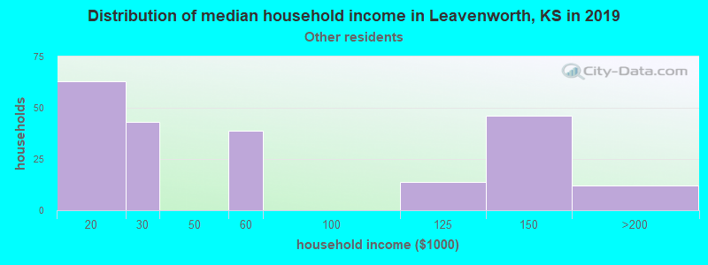 Leavenworth household income for Some other race householders