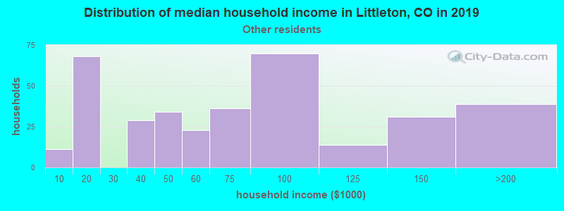 Littleton household income for Some other race householders