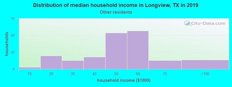 Longview household income for Some other race householders